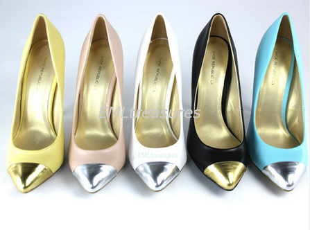Pointed metal cap Pumps