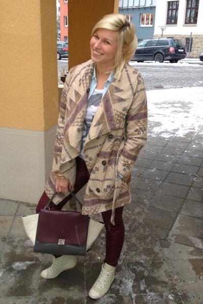 Aztec coat & Leather Pants