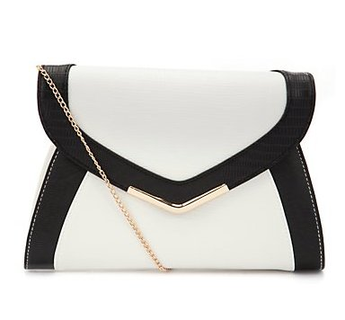 Color Block white black bag