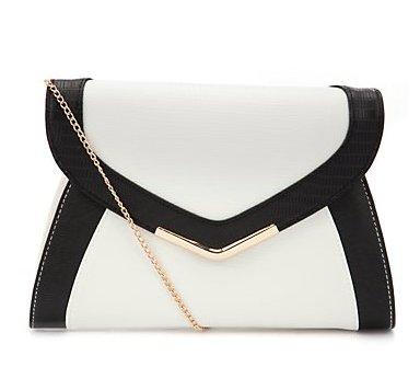 Color Block white black bag
