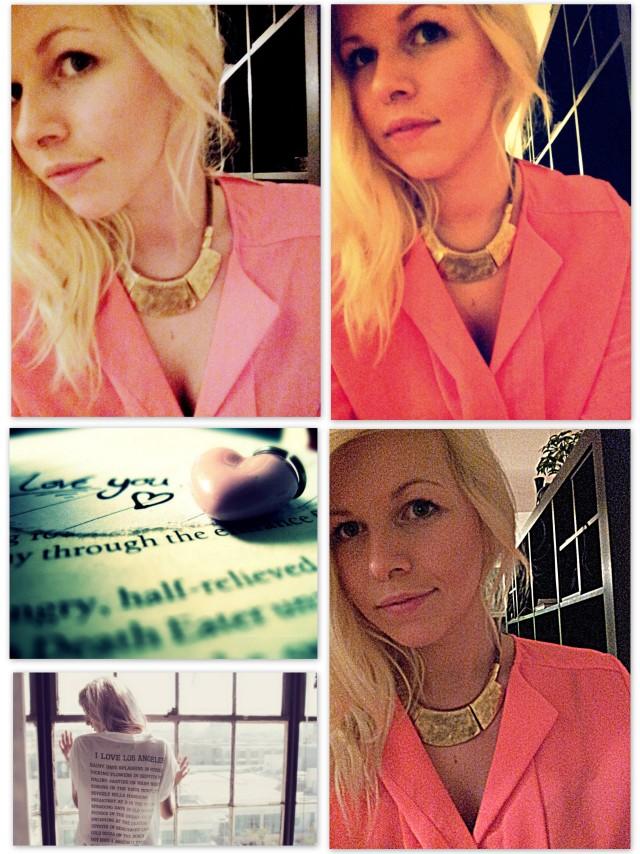 H&M Bluse Tunika orange neon
