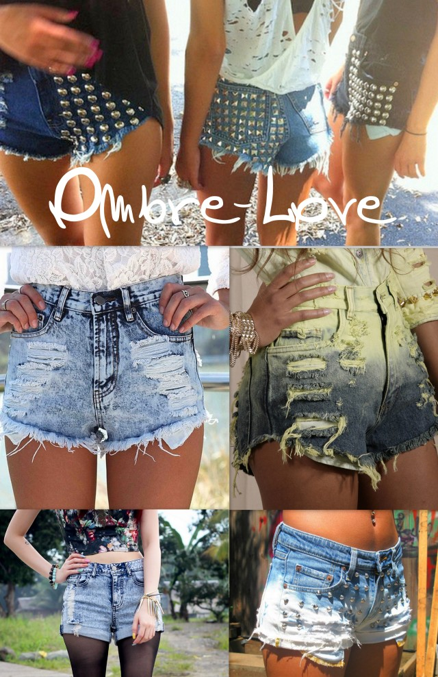 Ombre-Jeans-Shorts-Love