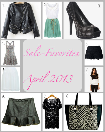 Sale Favoriten April 2013