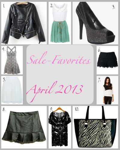 Sale Favoriten April 2013