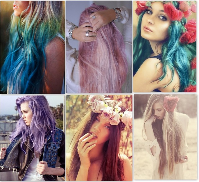 pastel color hair diy dye ombre rose