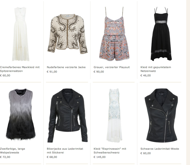 Online-Shop Miss Selfridge