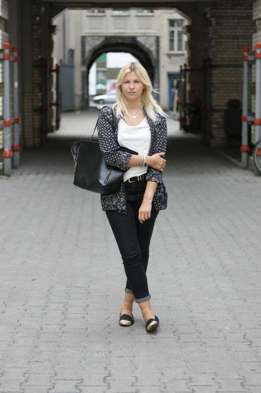 H&M Kimono and High Waist Jeans